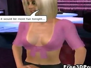 Porn Tube of Sexy 3d Cartoon Blonde Hottie Showing Off Her Stuff
