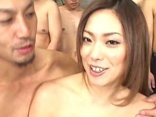 Porn Tube of Bukkake Orgy With Yukari Mayama Getting