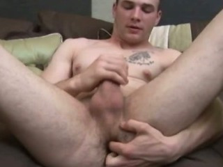 Porn Tube of Gorgeous College Student Feels His Ripped Body