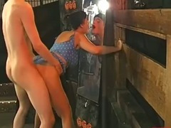 Watersports fetish slut fucked and piss shower