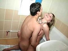 Couple Fucks Around In Bathroom