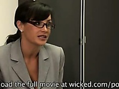 Lisa Ann & Tori Black in hot office lesbian action
