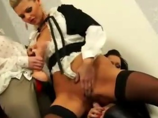 Porno Video of Bukkake Fetish Glamour Lesbians Strapon Fucking
