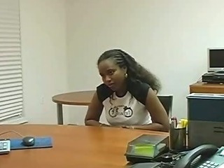 Porno Video of Sexy Black Sucking And Fucking In Office