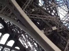 Hot public sex by Eiffel Tower in Paris Part 2