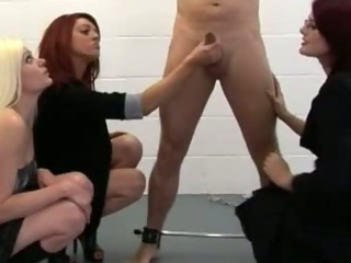 Porno Video of Four Bad Sexy Cfnm Girls Torment Naked Chained Up Guy