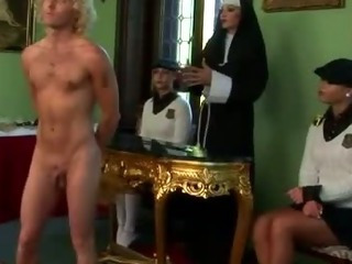 Porno Video of Femdom Schoolgirls And Their Teacher Spank Loser