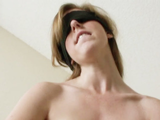 Porno Video of Redhead Girlfriend Puts Blindfold On And Sucks Off Bfs Dick