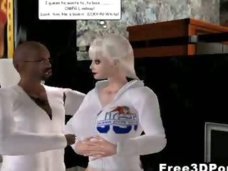 Porn Tube of Foxy 3d Cartoon Blonde Babe Sucks And Fucks A Stud