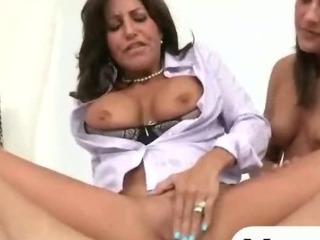 Porn Tube of Mature Stepmom Asshole Pounded With A Teen Couple In This Ffm 3some Sex