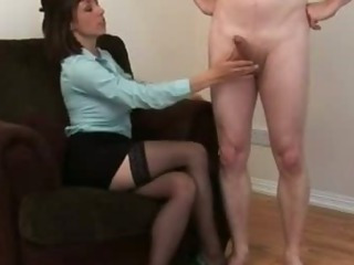 Porn Tube of Bad Girl Toys And Plays With Poor Naked Guys Cock