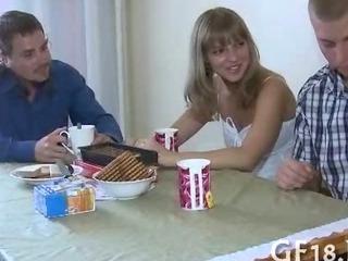 Porn Tube of Cute Hottie Spreads Legs