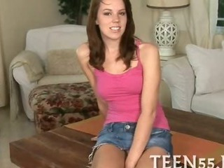 Porno Video of Provoking Teen Gets On Her Knees
