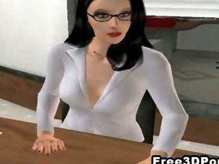 Porn Tube of Two Sexy 3d Cartoon Honeys Fucked Hard At The Office
