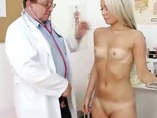 Porn Tube of Old Doctor Checks Young Blonde Girl Venus Pussy