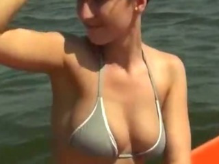 Porn Tube of Large Boobs Euro Sweetie Sucks And Fucks On A Boat To Get The Cash She Needs