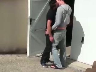 Porno Video of Dick Sucking Euro Guys Get Nasty Outside