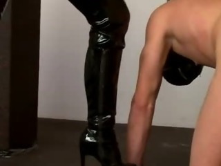 Porn Tube of Pvc Clad Fetish Mistress