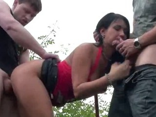 Porno Video of Public Sex Threesome By Freeway Ramp In Broad Daylight Part 2