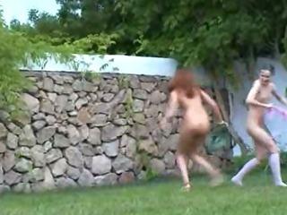 Porno Video of Irish Chicks Watersports In The Garden