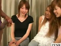 Subtitled Japanese amateurs black CFNM lingerie party
