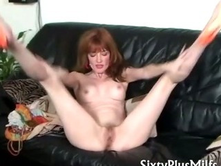 Porn Tube of Sexy Slender Mature Babe