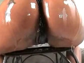 Porn Tube of Big Ass Shining Ghetto Oiled And Oral