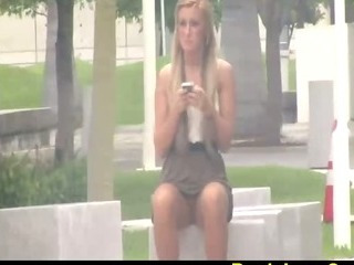 Porn Tube of Upskirt Video On Blonde Girl At The Park