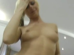 Blonde babe in her knees and in all positions just for Locco Rocco