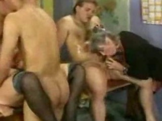 Porno Video of Granny Group Hardfucking