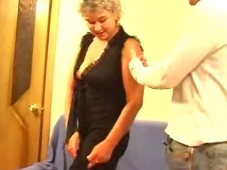 Porn Tube of Russian Mature Blonde With A Young Guy