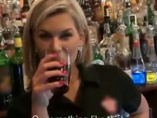 Porn Tube of Lovely Euro Bartender Fucked During Her Work To Earn Much More Cash