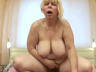 Porn Tube of Chubby Blonde Mature