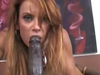 Porn Tube of Cougar Split By Black Rod