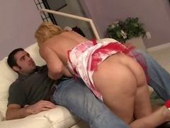 Blonde MILF Seduces Her Step Son