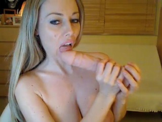 Porno Video of Babe Sucks And Strokes Her Huge Dildo Hd