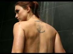 Teens suck cock after shower