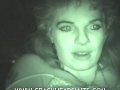 Crazy crackhead with scary pussy talks about her life and wants cash for her sex