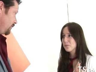 Porn Tube of Big Guy Drills Schoolgirl