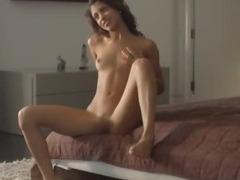 Wet orgasm of exotic model fingering