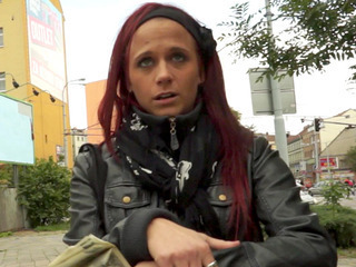Porno Video of Filthy Redhead Bitch Pulled In Publc And Fucked For Cold Cash