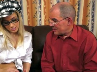 Porno Video of Horny Grandpa Seduces Blonde Cutie
