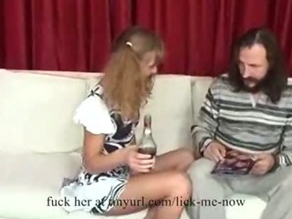 Sex Movie of Drunk Girl Seduces An Old Man