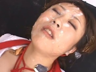 Porn Tube of Asian Slut Nana Becomes A Bukkake Angel