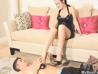 Porno Video of Young Mistress Trampling Session