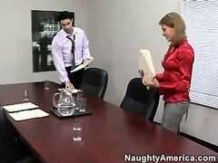 Brunette Gets Fucked On A Office Desk