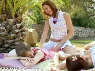Porno Video of Incredible Lesbian Threesome From Europe