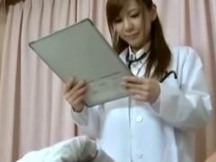 Japanese nurse bitch gets her patient hard