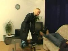 Blonde Dutch babe Dressed In White Lingerie Fucks Hard