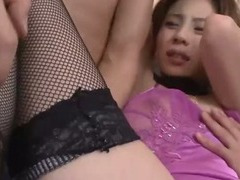 Bound and blindfolded Natsumi has her body fondled